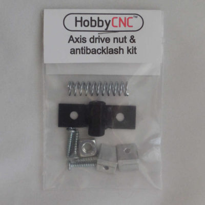 Axis drive nut with anti backlash