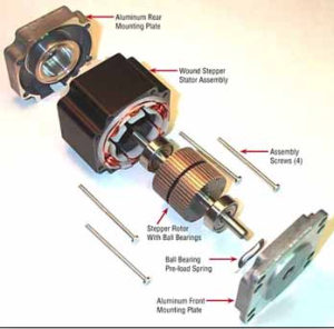 HobbyCNC unipolar stepper motors - Stepper Motor Exploded View
