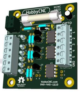 HobbyCNC Opto Isolator Board prototype mockup